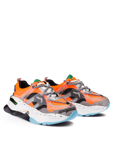 Deery Hakiki Deri Sneakers Oranj